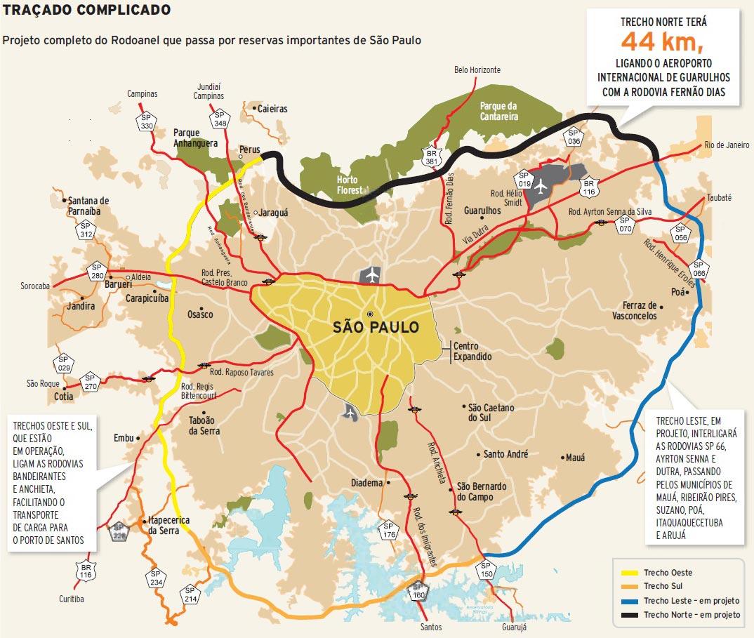 Mapa Rodoanel Completo