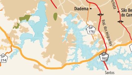 Mapa Rodoanel Trecho Sul